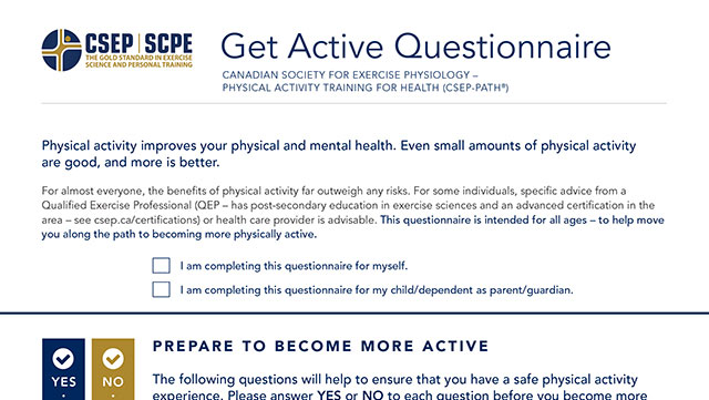 Image of Get Active Questionnaire (cropped)